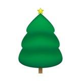 Diseño del vector del árbol de navidad stock de ilustración