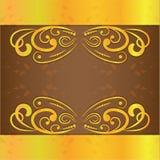 Diseño del vector del color oro de los marcos de la invitación de la boda del vintage libre illustration