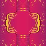 Diseño del vector del color oro de los marcos de la invitación de la boda del vintage ilustración del vector