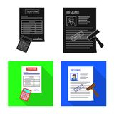 Diseño del vector de icono de la forma y de documento Sistema del icono del vector de la forma y de la marca para la acción libre illustration