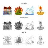 Diseño del vector de icono del tiempo y de la desolación Colección de símbolo común del tiempo y del desplome para la web stock de ilustración