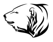 Diseño del vector de la cabeza del perfil del oso polar Fotografía de archivo