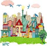 Diseño del vector de la ciudad de Nyc Fotografía de archivo
