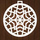 Diseño del vector de la decoración del invierno Símbolo de Navidad para el corte del papel, la talla de madera y el corte del las stock de ilustración