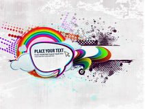 Diseño del vector de la fantasía del remolino del arco iris Fotografía de archivo libre de regalías