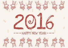 Diseño del vector de la Feliz Año Nuevo 2016 stock de ilustración