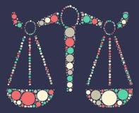 Diseño del vector de la forma de Libras Imagen de archivo