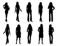 Diseño del vector de la mujer de negocios de la silueta ilustración del vector