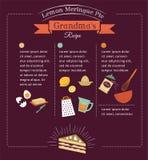 Diseño del vector de la plantilla de la receta de la comida de la pizarra Fotos de archivo