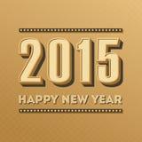 Diseño 2015 del vector de la tarjeta de felicitación del vintage de la Feliz Año Nuevo Fotografía de archivo libre de regalías