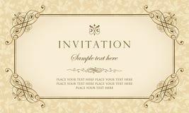 Diseño del vector de la tarjeta de la invitación - estilo del vintage Fotos de archivo
