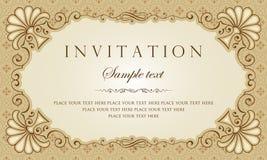 Diseño del vector de la tarjeta de la invitación - estilo del vintage Imágenes de archivo libres de regalías