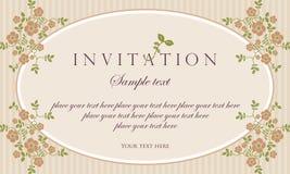 Diseño del vector de la tarjeta de la invitación - estilo retro Fotos de archivo libres de regalías