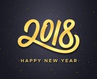 Diseño 2018 del vector de la tarjeta de felicitación de la Feliz Año Nuevo Fotografía de archivo libre de regalías