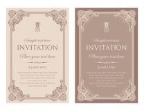 Diseño del vector de la tarjeta de la invitación - estilo del vintage Fotografía de archivo
