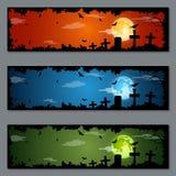 Diseño del vector de las banderas de Halloween Imagen de archivo