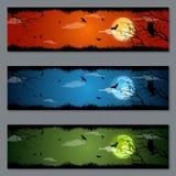 Diseño del vector de las banderas de Halloween Fotografía de archivo libre de regalías