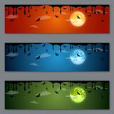 Diseño del vector de las banderas de Halloween Foto de archivo libre de regalías