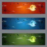 Diseño del vector de las banderas de Halloween Imagenes de archivo