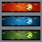 Diseño del vector de las banderas de Halloween Fotos de archivo libres de regalías