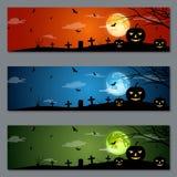 Diseño del vector de las banderas de Halloween Imagen de archivo libre de regalías