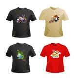 Diseño del vector de las camisas libre illustration