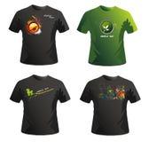 Diseño del vector de las camisas ilustración del vector