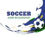Diseño del vector de los deportes de Soocer stock de ilustración