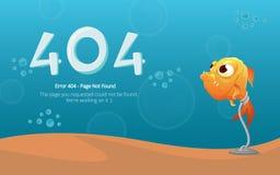 Diseño del vector del diseño de página del error 404 Concepto creativo de la página del sitio web 404 libre illustration