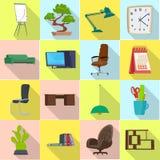 Diseño del vector de símbolo de los muebles y del trabajo Sistema de muebles e icono casero del vector para la acción libre illustration