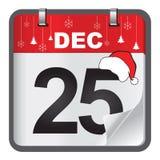 Diseño del vector del calendario de la Navidad 2017 Foto de archivo