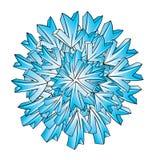 Diseño del vector del copo de nieve del hielo stock de ilustración