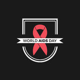 Diseño del vector del Día Mundial del Sida Imagen de archivo libre de regalías