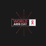 Diseño del vector del Día Mundial del Sida Foto de archivo libre de regalías