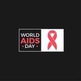 Diseño del vector del Día Mundial del Sida Imagen de archivo