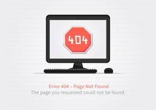 Diseño del vector del diseño de página del error 404 Fotos de archivo
