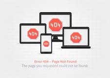 Diseño del vector del diseño de página del error 404 Imagen de archivo