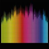 Diseño del vector del equalizador Imagenes de archivo
