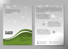 Diseño del vector del folleto del negocio de la cubierta del aviador, prospecto que hace publicidad del fondo abstracto, disposic Foto de archivo libre de regalías