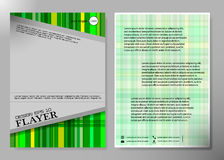 Diseño del vector del folleto del negocio de la cubierta del aviador, prospecto que hace publicidad del fondo abstracto, disposic Imágenes de archivo libres de regalías