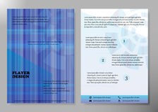 Diseño del vector del folleto del negocio de la cubierta del aviador, prospecto que hace publicidad del fondo abstracto, disposic Imagenes de archivo