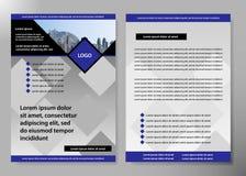Diseño del vector del folleto del negocio de la cubierta del aviador, prospecto que hace publicidad del fondo abstracto, disposic Foto de archivo