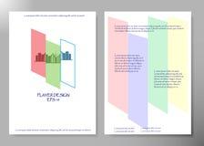 Diseño del vector del folleto del negocio de la cubierta del aviador, prospecto que hace publicidad del fondo abstracto, disposic Imagen de archivo