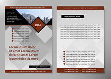 Diseño del vector del folleto del negocio de la cubierta del aviador, prospecto que hace publicidad del fondo abstracto, disposic Imagen de archivo libre de regalías