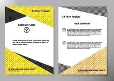 Diseño del vector del folleto del negocio de la cubierta del aviador, prospecto que hace publicidad del fondo abstracto, plantill Fotografía de archivo libre de regalías