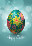 Diseño del vector del huevo de Pascua Fotos de archivo