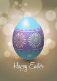 Diseño del vector del huevo de Pascua Fotografía de archivo