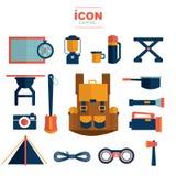 Diseño del vector del icono que acampa Imágenes de archivo libres de regalías