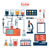 Diseño del vector del laboratorio del icono Imagen de archivo