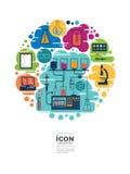 Diseño del vector del laboratorio del icono ningún 2 Imagen de archivo libre de regalías